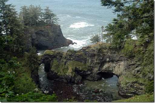 Just north of Brookings,  Oregon -- Natural Bridges Cove -- during an unexpected break in the weather.
